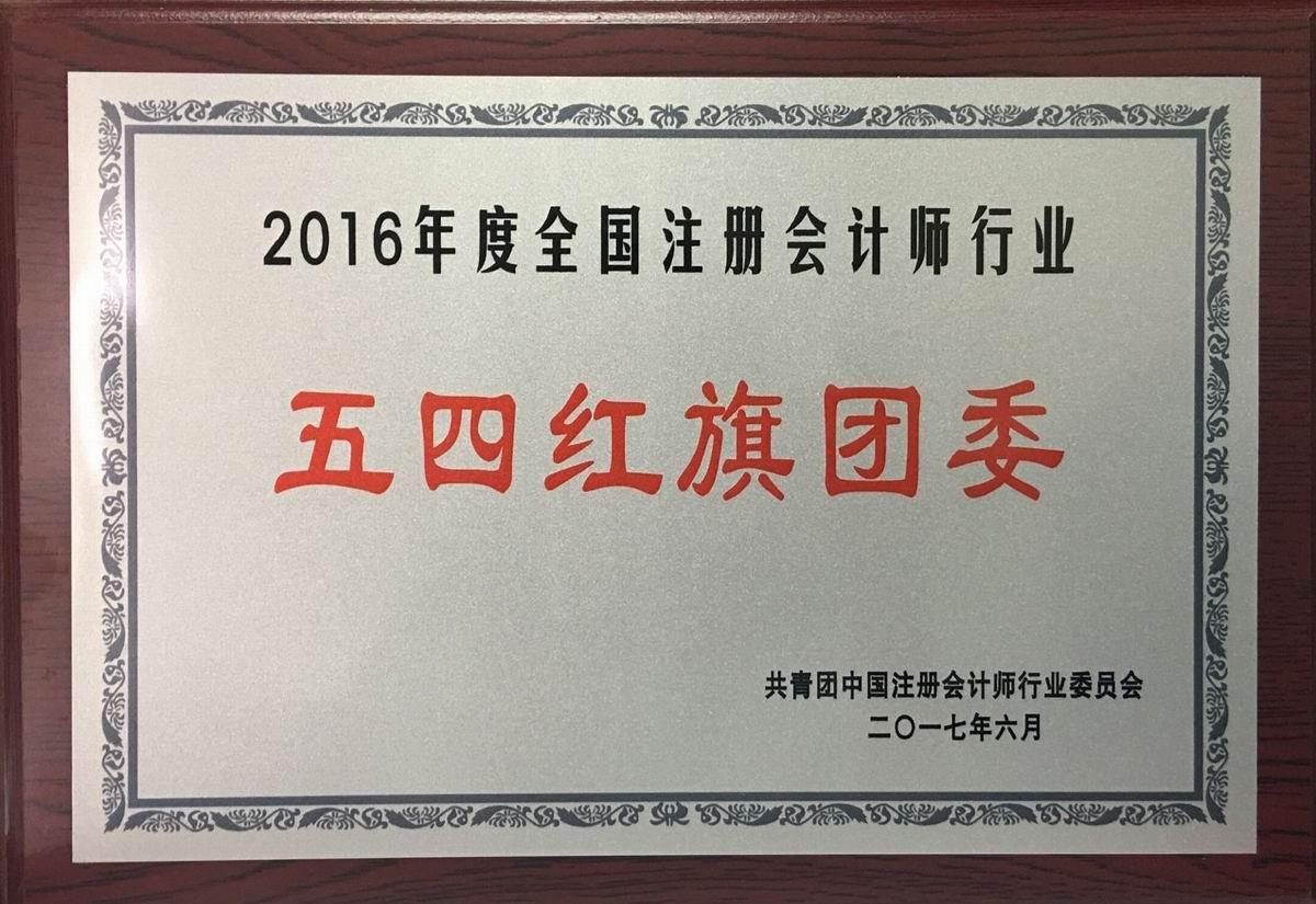"""2016年度全国注册会计师行业""""五四红旗团委"""""""