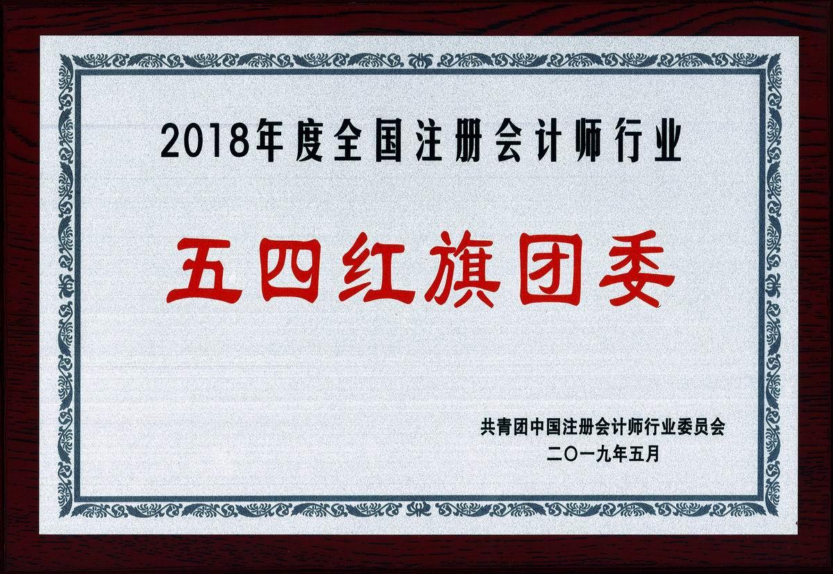 """2018年度全国注册会计师行业""""五四红旗团委"""""""