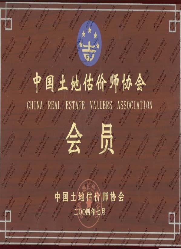 中国土地估价师协会-会员证