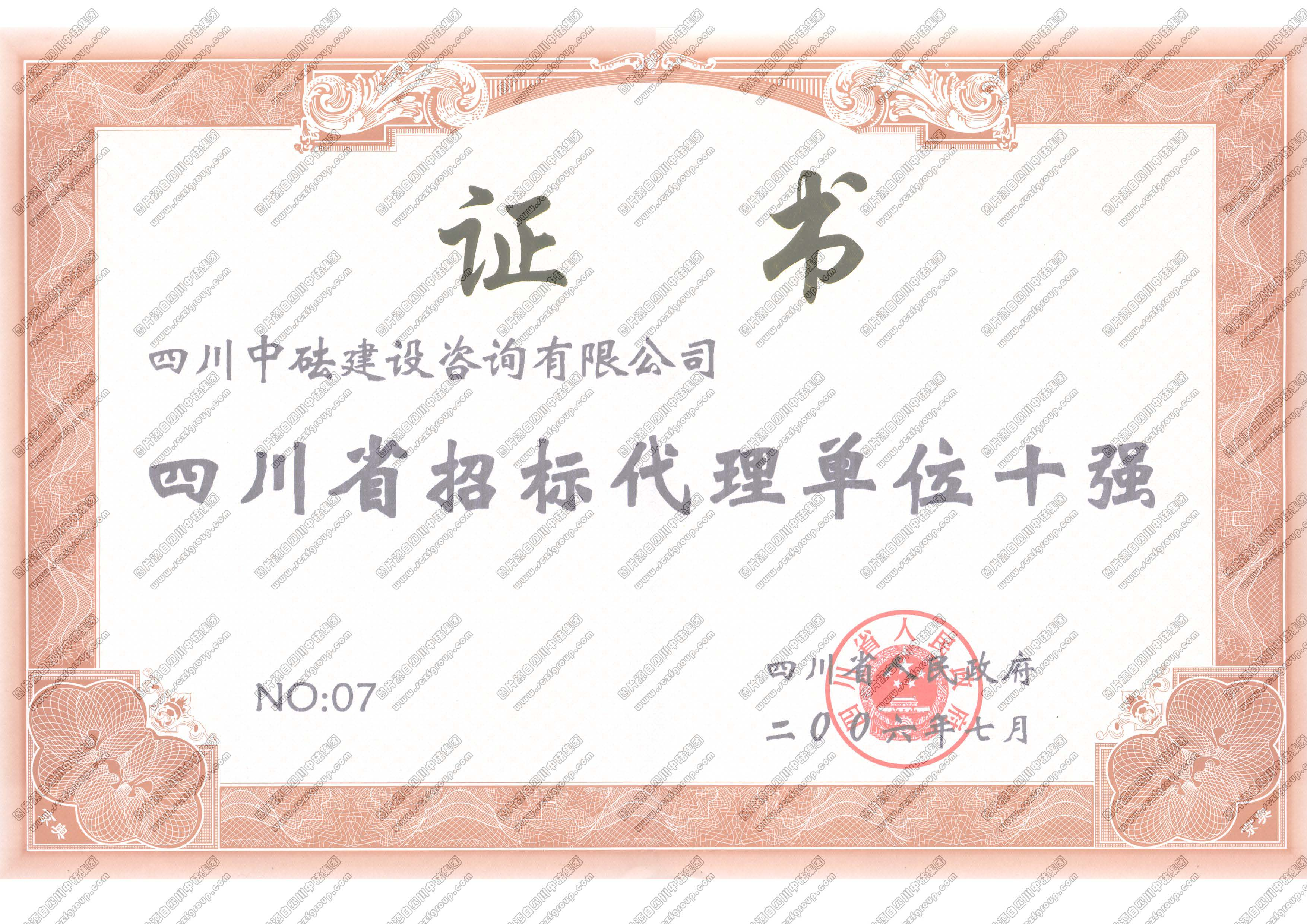 四川省招标代理单位十强