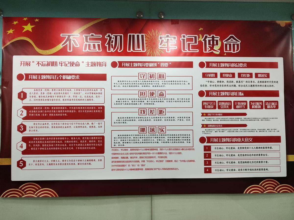 """""""不忘初心 牢记使命""""宣传展板(2019)"""